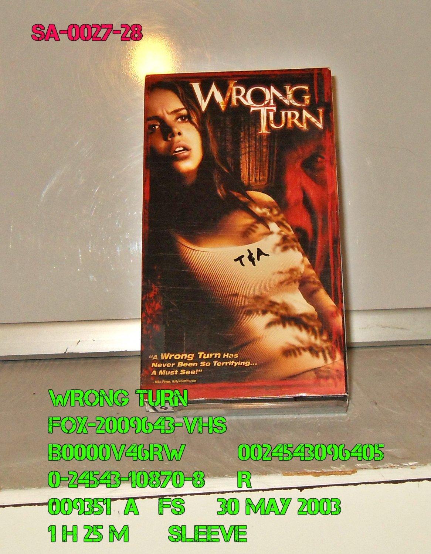 VHS - WRONG TURN