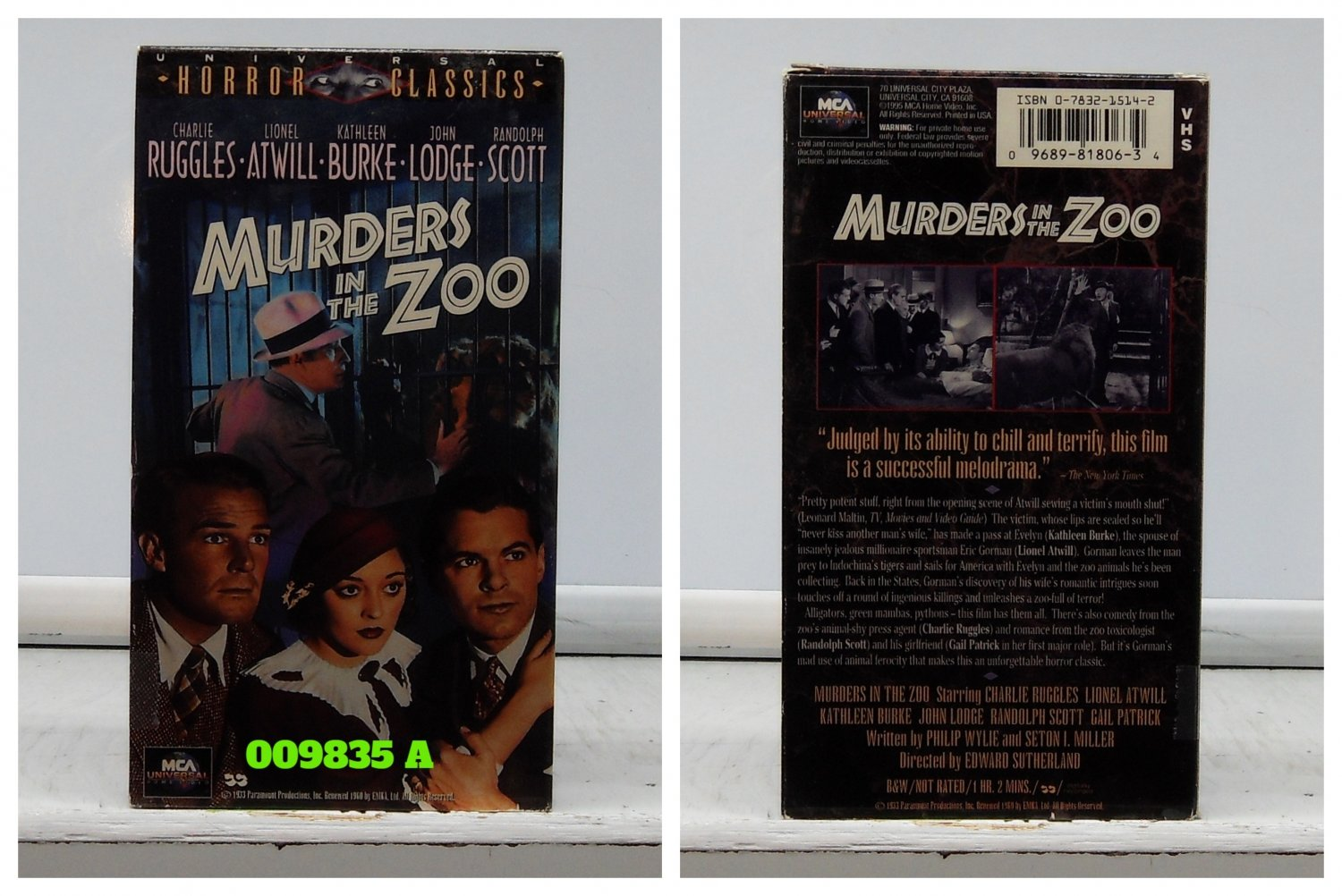 VHS - MURDERS IN THE ZOO