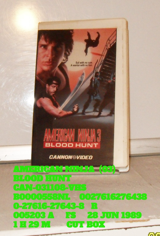 VHS - AMERICAN NINJA  (03)  BLOOD HUNT