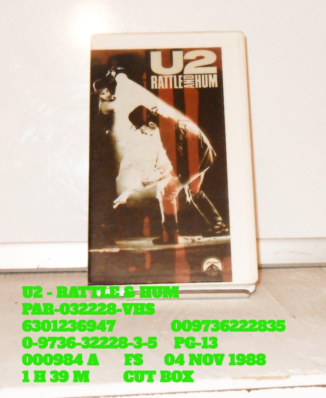 VHS - U2 - RATTLE & HUM