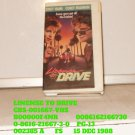 VHS - LICENSE TO DRIVE