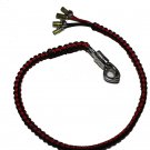 Biker whip black and red