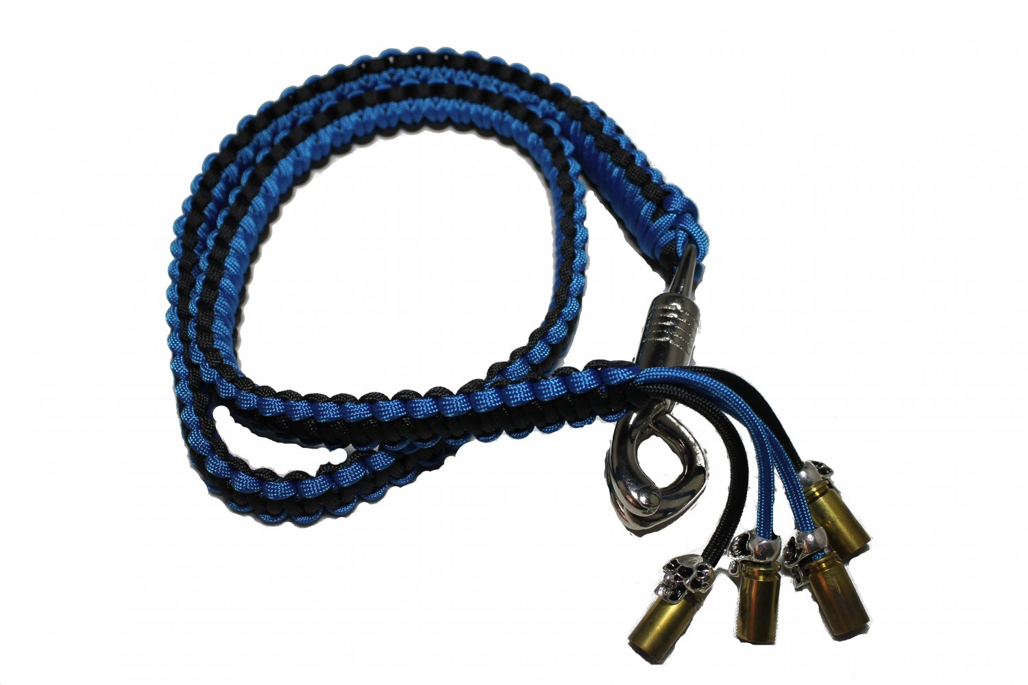 biker whip black and blue