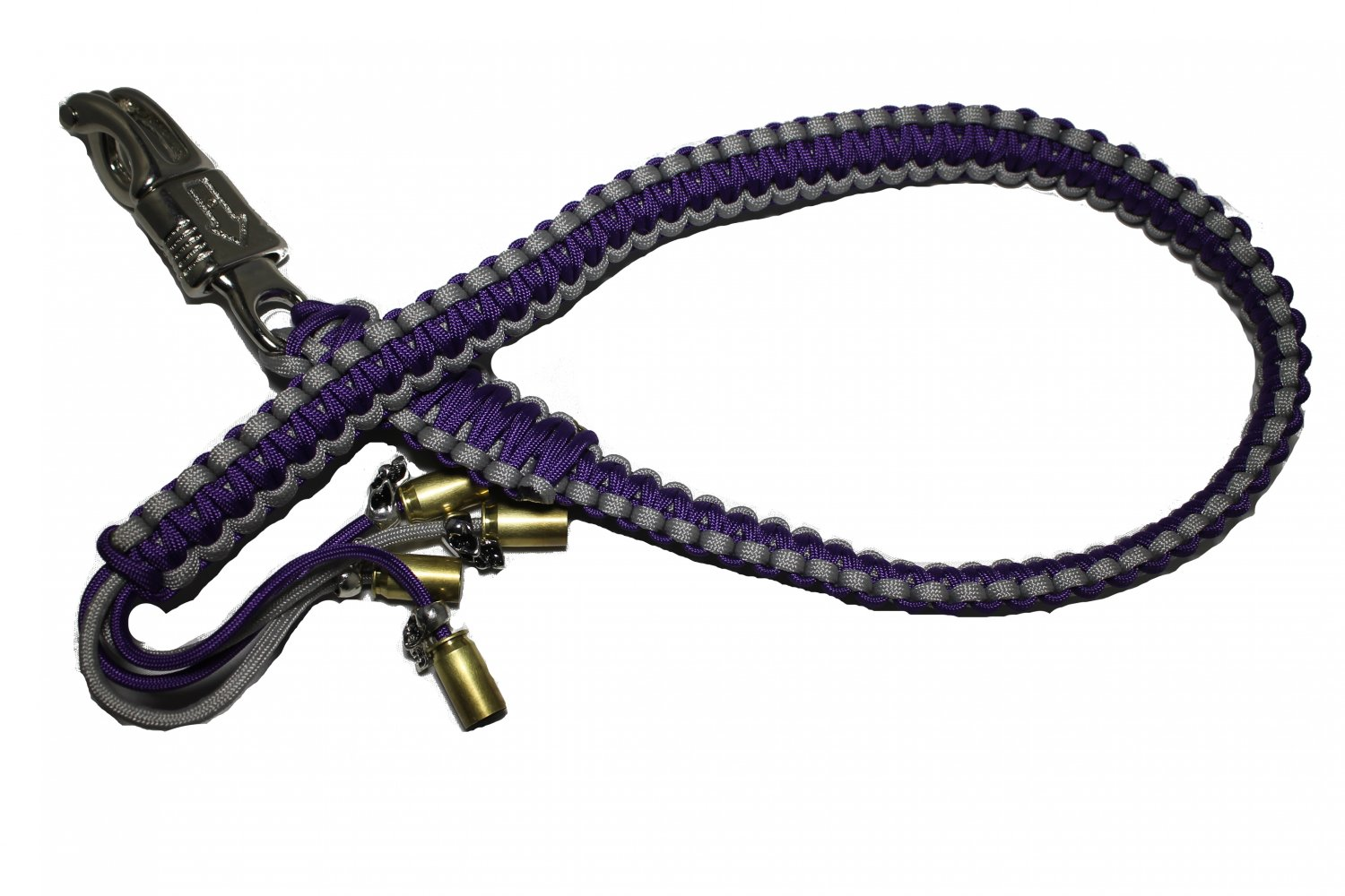 biker whip purple and silver