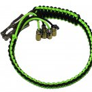 "Biker Whip 36"" Black Neon Green"
