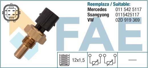 33860 temperature sensor DAEWOO MERCEDES VW LT 0115425117 02D919369