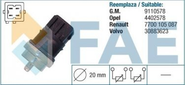 33810 temperature sensor for NISSAN MITSUBISHI OPEL RENAULT SUZUKI  7700105087