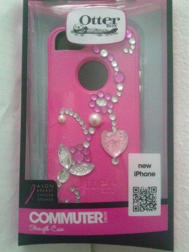 Rhinestone Bling Otterbox Commuter Series case Iphone 5 5 & 5S