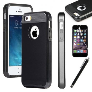"""Black Hybrid Shockproof Hard Rugged Heavy Duty Cover Case For Apple iPhone 6 4.7"""""""