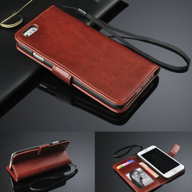 For Apple iPhone 4,4s,4G Genuine Real Leather Flip Wallet Case Cover