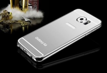Silver Luxury Slim Aluminum Metal Bumper Mirror Back Case Cover For Samsung Galaxy S 6