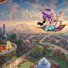 """Aladdin - inspirated to Kinkade - 35.43"""" x 23.93"""" - Cross Stitch Pattern Pdf E505"""