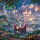 "Tangled Disney - inspirated to Kinkade  - 35.43"" x 23.86"" - Cross Stitch Pattern Pdf C540"