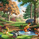 "Winnie the Pooh I - inspirated to Kinkade  - 35.43"" x 22.14"" - Cross Stitch Pattern Pdf E462"