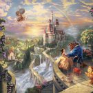 "Beauty and the beast - inspirated to Kinkade - 35.43"" x 22.14"" - Cross Stitch Pattern Pdf E192"