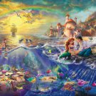 "Ariel the little marmeid - inspirated to Kinkade  - 35.43"" x 23.93"" - Cross Stitch Pattern Pdf C194"