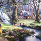"Snow white - inspirated to Kinkade - 35.43"" x 23.79"" - Cross Stitch Pattern Pdf E602"