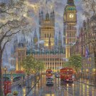 "London with Big Ben - inspirated to Kinkade  -  26.36"" x 35.36"" - Cross Stitch Pattern Pdf E633"