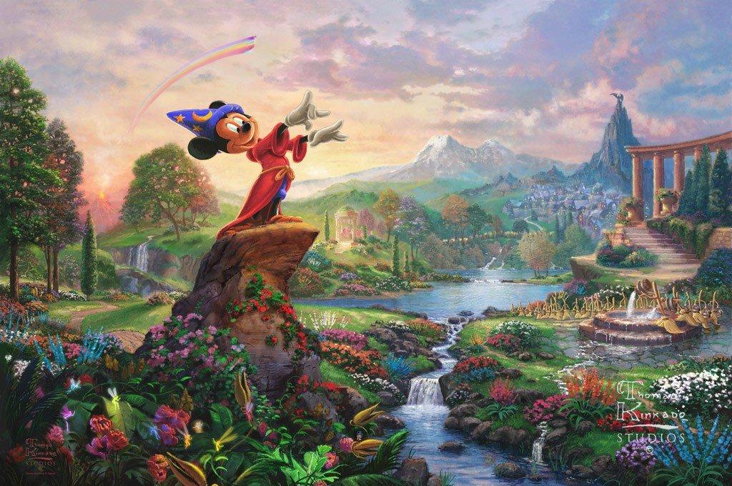 Fantasia Disney inspirated to Kinkade Cross Stitch Pattern Pdf 496 * 330 stitches E584