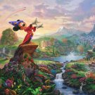 "Fantasia Disney - inspirated to Kinkade - 35.43"" x 23.57"" - Cross Stitch Pattern Pdf E584"