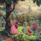 "Sleeping beauty - inspirated to Kinkade  - 35.43"" x 23.64"" - Cross Stitch Pattern Pdf C517"