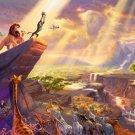 "Lion King Disney - inspirated to Kinkade  - 35.43"" x 23.71"" - Cross Stitch Pattern Pdf C592"