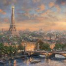 "Paris city of love - inspirated to Kinkade - 35.43"" x 23.64"" - Cross Stitch Pattern Pdf C623"