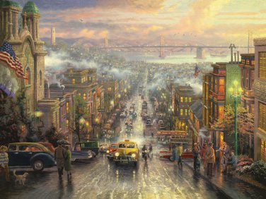 "Heart of San Francisco - inspirated to Kinkade -  35.43"" x 26.64"" - Cross Stitch Pattern Pdf C634"