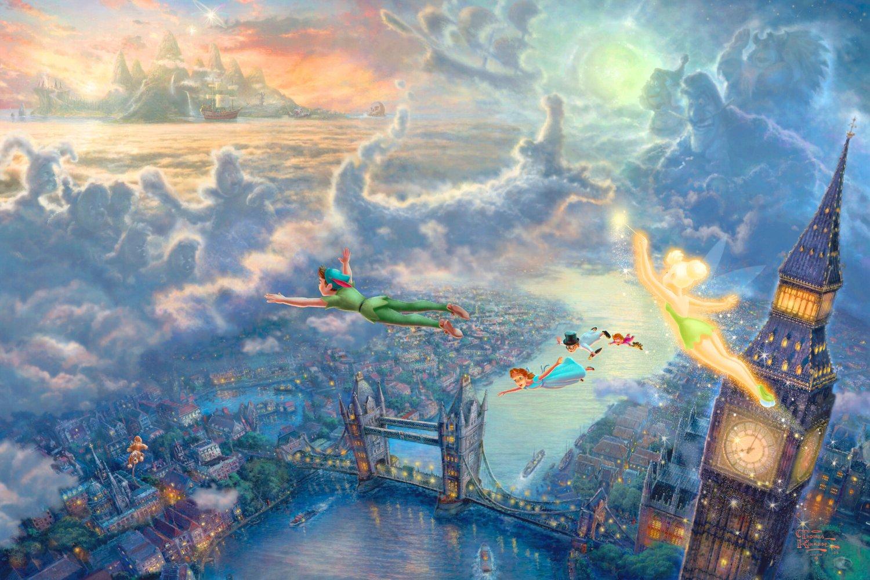Peter Pan inspirated to Kinkade Cross Stitch Pattern Pdf 551 * 368 stitches E611