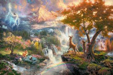 """Bambi First Year - inspirated to Kinkade  - 35.43"""" x 23.57"""" - Cross Stitch Pattern Pdf C515"""
