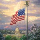 "America's pride - inspirated to Kinkade - 27.57"" x 35.36"" - Cross Stitch Pattern Pdf C453"