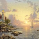 "The Sea Of Tranquility - inspirated to Kinkade - 35.43"" x 23.64"" - Cross Stitch Pattern Pdf C199"