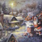 "Santa Klaus - inspirated to Kinkade - 35.43"" x 22.14"" - Cross Stitch Pattern Pdf E345"