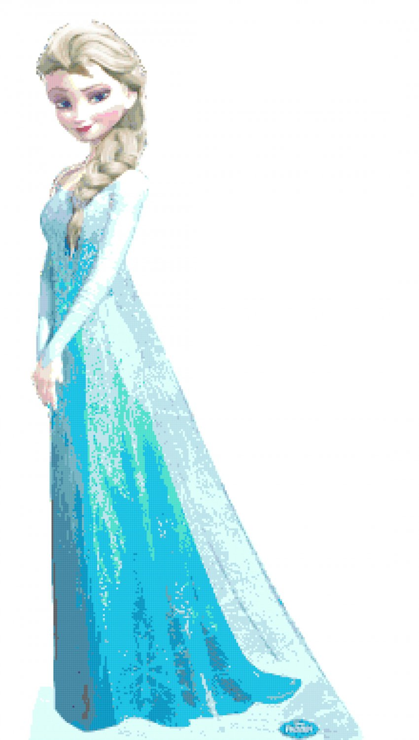 Princess Elsa Pose 12 53 Quot X 27 07 Quot Cross Stitch