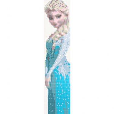 "Princess Elsa bookmark Frozen - 1.85"" x 8.00"" - 26w x 112h - Cross Stitch Pattern Pdf C325"