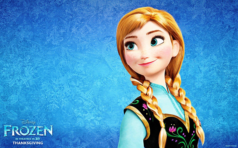 "Princess Anna Frozen - 6.14"" x 9.93"" - 110w x 144h - Cross Stitch Pattern Pdf E323"