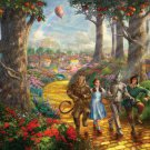 "Yellow road Oz wizard - inspirated to Kinkade - 35.43"" x 23.79"" - Cross Stitch Pattern Pdf C556"