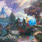 "Cinderella wishes - inspirated to Kinkade - 35.43"" x 23.64"" - Cross Stitch Pattern Pdf E197"