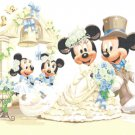 "Minnie & Mickey Mouse married - 23.64"" x 17.71"" - Cross Stitch Pattern Pdf E481"
