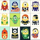 "Minions superheroes - 19.71"" x 19.07"" - Cross Stitch Pattern Pdf E251"