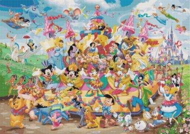 "Disney carnival   - 31.50"" x 22.36"" - Cross Stitch Pattern Pdf C710"
