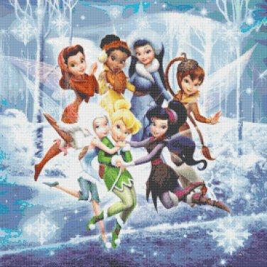 "Cute fairies - 19.71"" x 19.71"" - Cross Stitch Pattern Pdf C646"