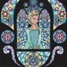 "Elsa of Frozen stained glass - 17.57"" x 19.71"" - Cross Stitch Pattern Pdf C767"