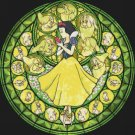 "Snow white stained glass - 19.71"" x 19.14"" - Cross Stitch Pattern Pdf E768"