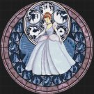 "Cinderella stained glass - 19.93"" x 20.14""  - Cross Stitch Pattern Pdf C771"
