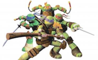 "Teenage mutant ninja turtles superheroes - 22.36"" x 14.43"" - Cross Stitch Pattern Pdf C772"