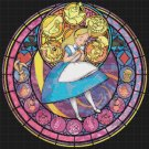 "Alice stained glass - 20.64"" x 20.64""   - Cross Stitch Pattern Pdf C774"