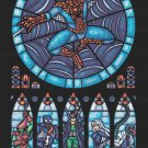 "Marvel spiderman stained glass - 19.71"" x 30.43"" - Cross Stitch Pattern Pdf E782"