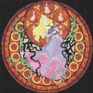 "Sleeping beauty stained glass - 20.14"" x 19.86"" - Cross Stitch Pattern Pdf C786"