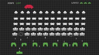 "Space invaders level - 23.64"" x 13.29"" - Cross Stitch Pattern Pdf C803"